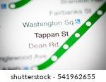 Small photo of Tappan St Station. Boston Metro map.