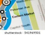 Eastern Market Station. Washington DC Metro map.