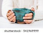 woman with beautiful manicure... | Shutterstock . vector #541969999