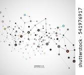 vector illustration molecules ... | Shutterstock .eps vector #541976917
