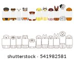 large dogs border set  with...   Shutterstock .eps vector #541982581