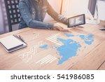 businessman hand shows... | Shutterstock . vector #541986085