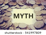 Small photo of Coins are used to decorate as a frame. Suitable to be used to promote anything about myth.