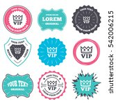 label and badge templates. vip... | Shutterstock . vector #542006215