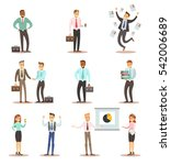 business man and woman in... | Shutterstock .eps vector #542006689