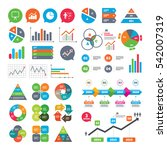 business charts. growth graph....   Shutterstock . vector #542007319