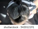 i tied the girls braid | Shutterstock . vector #542012191