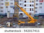 self propelled crane terrain in ...   Shutterstock . vector #542017411