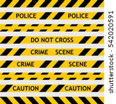 set yellow police tape... | Shutterstock .eps vector #542020591