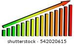 infographics 3d growing pillars ... | Shutterstock .eps vector #542020615