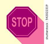 traffic sign stop. vector.... | Shutterstock .eps vector #542022319