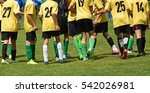 kid soccer team are happy after ... | Shutterstock . vector #542026981