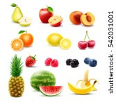 fruits | Shutterstock .eps vector #542031001