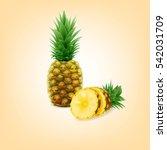 pineapple | Shutterstock .eps vector #542031709