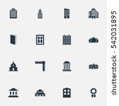 set of 16 simple construction... | Shutterstock .eps vector #542031895