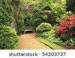 lovely  public spring garden ... | Shutterstock . vector #54203737