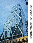 modern skyscraper office... | Shutterstock . vector #542056051