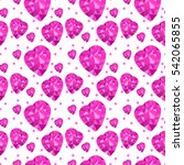 heart brilliant pattern. violet ... | Shutterstock .eps vector #542065855