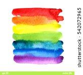 rainbow background. watercolor... | Shutterstock .eps vector #542072965
