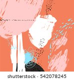 abstract painting background.... | Shutterstock .eps vector #542078245