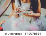 little asian girl was playing... | Shutterstock . vector #542078599