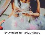 little asian girl was playing... | Shutterstock . vector #542078599