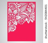 die cut card. laser cut vector... | Shutterstock .eps vector #542084401