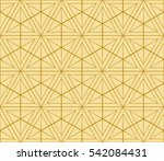 geometric pattern of hexagons.... | Shutterstock . vector #542084431