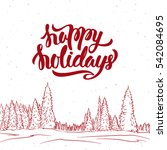 vector illustration  greeting... | Shutterstock .eps vector #542084695