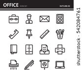 business and office outline... | Shutterstock .eps vector #542084761