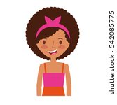 young woman avatar character... | Shutterstock .eps vector #542085775
