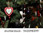 christmas tree decoration  | Shutterstock . vector #542098399