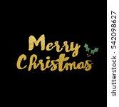 merry christmas  | Shutterstock . vector #542098627