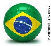 brazilian flag on volleyball... | Shutterstock . vector #54210010