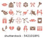 valentine icon set | Shutterstock .eps vector #542101891
