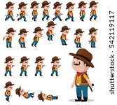 cowboy character sprites for... | Shutterstock .eps vector #542119117