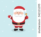 cartoon santa claus for your... | Shutterstock .eps vector #542121295