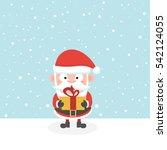 santa in snow. | Shutterstock .eps vector #542124055