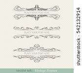 vector set of vintage frames | Shutterstock .eps vector #542132914