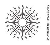 vintage sunburst. vector...   Shutterstock .eps vector #542136499
