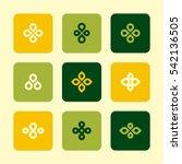 vector flat icons set   plant...   Shutterstock .eps vector #542136505