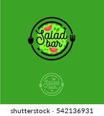 salad bar logo. cafe or... | Shutterstock .eps vector #542136931