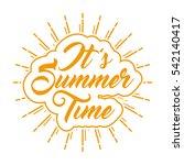 summer poster  vector banner ...   Shutterstock .eps vector #542140417