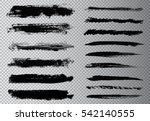 hand painted brush strokes... | Shutterstock .eps vector #542140555