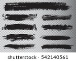 hand painted brush strokes... | Shutterstock .eps vector #542140561