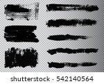 hand painted brush strokes...   Shutterstock .eps vector #542140564