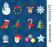 a set of merry christmas and... | Shutterstock .eps vector #542142175