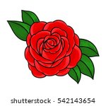 flowers roses  red buds and... | Shutterstock .eps vector #542143654