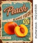 peach vintage banner   Shutterstock .eps vector #542145505