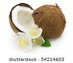 Cocos with jasmine - stock photo